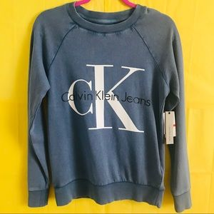 Calvin Klein Sweater Faded Vintage Logo